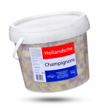 Hollandsche Champignons geschnitten