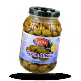Grüne Griechische Oliven Super Colossal, ohne Kern