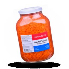 Karottensalat Fein geschnitten