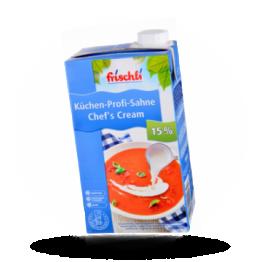 Küchen-Profi Sahne 15%, fein und flüssig. Für Saucen und Suppen