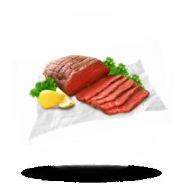 Gebratenes Roastbeef Tiefgefroren