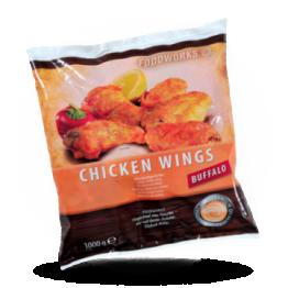 Chicken Wings Buffalo Scharf. Gegart, tiefgefroren