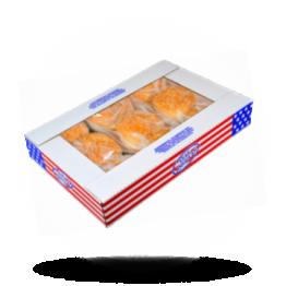 Hamburgerbrötchen Mit Sesam, vorgeschnitten, tiefgefroren