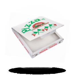 Pizzabox 24x24x3cm, C., Italienische Flagge