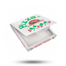 Pizzabox 26,5x26,5x3cm, C., Italienische Flagge