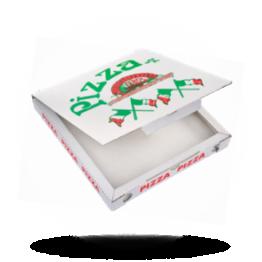 Pizzabox 28x28x3cm, C., Italienische Flagge