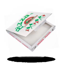 Pizzabox 29x29x3cm, C., Italienische Flagge
