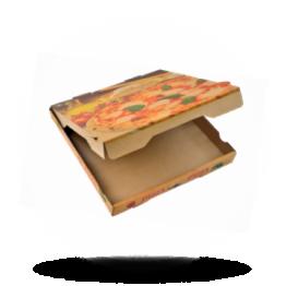 Pizzabox 20x20x4cm Francia Kraft/Kraft braun