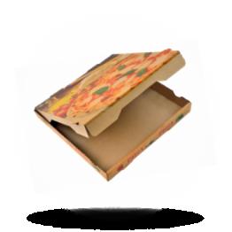 Pizzabox 22x22x4cm Francia Kraft/Kraft braun