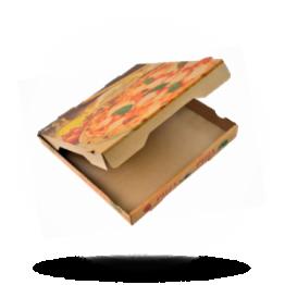 Pizzabox 24x24x4cm Francia Kraft/Kraft braun