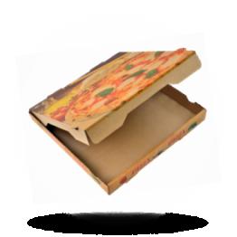 Pizzabox 26x26x4cm Francia Kraft/Kraft braun