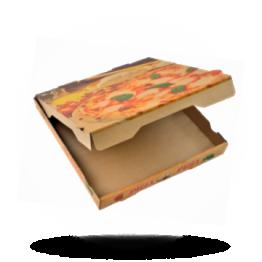 Pizzabox 28x28x4cm Francia Kraft/Kraft braun