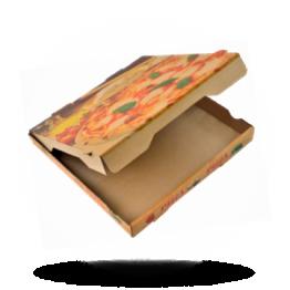 Pizzabox 29x29x4cm Francia Kraft/Kraft braun