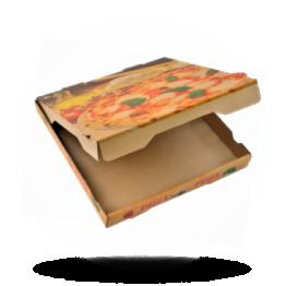 Pizzabox 30x30x4cm Francia Kraft/Kraft braun