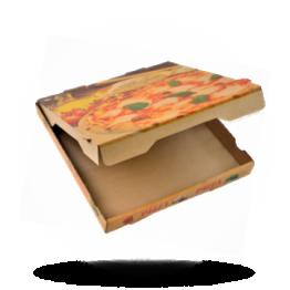 Pizzabox 31x31x4cm Francia Kraft/Kraft braun
