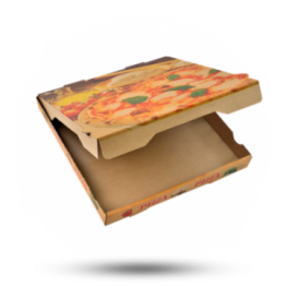 Pizzabox 32x32x4cm Francia Kraft/Kraft braun