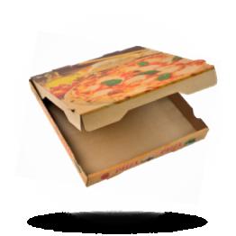 Pizzabox 33x33x4cm Francia Kraft/Kraft braun