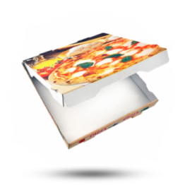 Pizzabox 33x33x4,2cm, Fr., Kraft