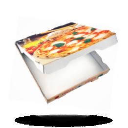 Pizzabox 33x33x4,2cm, Fr., Kraft