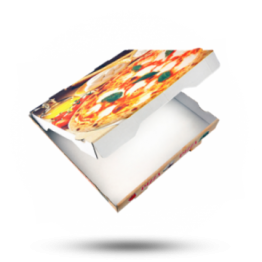 Pizzabox 22x22x4,2cm Francia Kraft