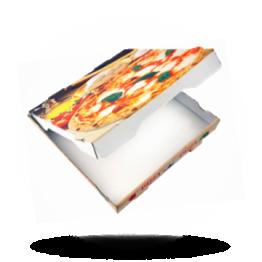 Pizzabox 22x22x4,2cm Francia Kraft