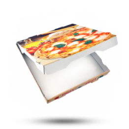 Pizzabox 26x26x4cm Francia Kraft