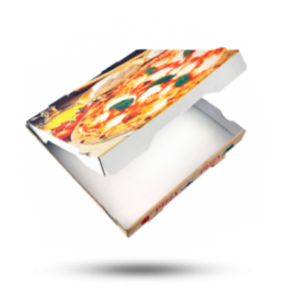 Pizzabox 28x28x4cm Francia Kraft