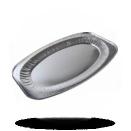 Aluminium Gastronomie-Schalen Oval, Ø 45cm, 401 x 261 x 25mm