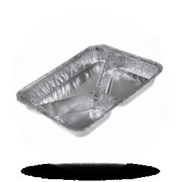 Aluminium Menüschalen 775/R 760G, 3-geteilt