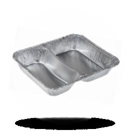Aluminium Menüschalen 785/R 1020 G, 2-geteilt