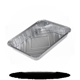 Aluminium Menüschalen 775/R 930 G, 1-geteilt