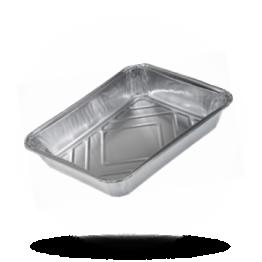 Aluminium Menüschalen 785/R 1150 G, 1-geteilt