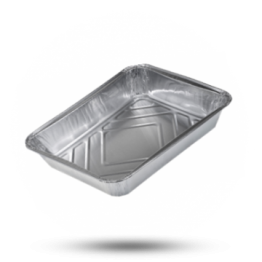 Aluminium Menüschalen Ungeteilt  tief, 1150cc, 213 x 163 x 38mm