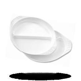 Teller 2-Geteilt, Kunststoff, mit Griff