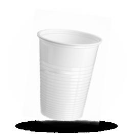 Trinkbecher 180cc, Kunststoff, weiß