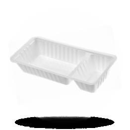 Plastik Schalen A22 weiß, 2-geteilt, (A9+1)