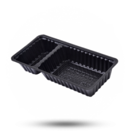 Plastik Schalen A22 schwarz, 2-geteilt