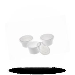 Buttertöpfchen mit Deckel 30cc, weiß/transparent