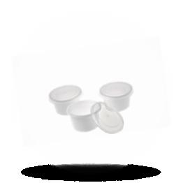 Buttertöpfchen mit Deckel 30cc weiß/transparent