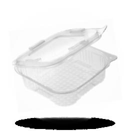 Klappschalen für Salat 375cc, rechteckig mit Fester Deckel