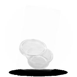 Saucenbecher mit Deckel 80cc, transparent, PET