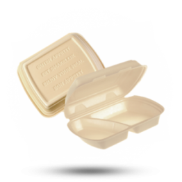 Menüboxen HP4, 2-geteilt, beige