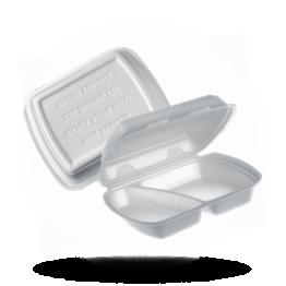 Menü-Boxen 2-geteilt, weiß