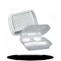 Menü-Boxen 3-geteilt, weiß