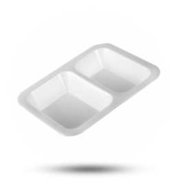 Siegelschalen 622, 2-geteilt, weiß