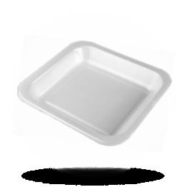 Siegelschalen 601, ungeteilt, weiß