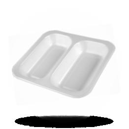 Siegelschalen 602, 2-geteilt, weiß