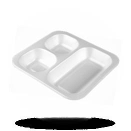 Siegelschalen 603, 3-geteilt, weiß