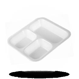 Siegelschalen 612, 3-geteilt, weiß