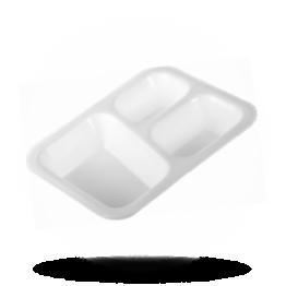Siegelschalen 615, 3-geteilt, weiß
